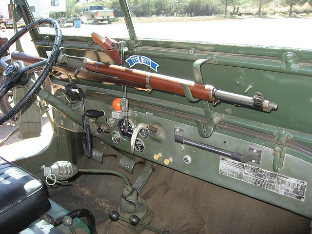 The Perfect Dash Accesssory Jeeps M1 Garand Jeep Guns