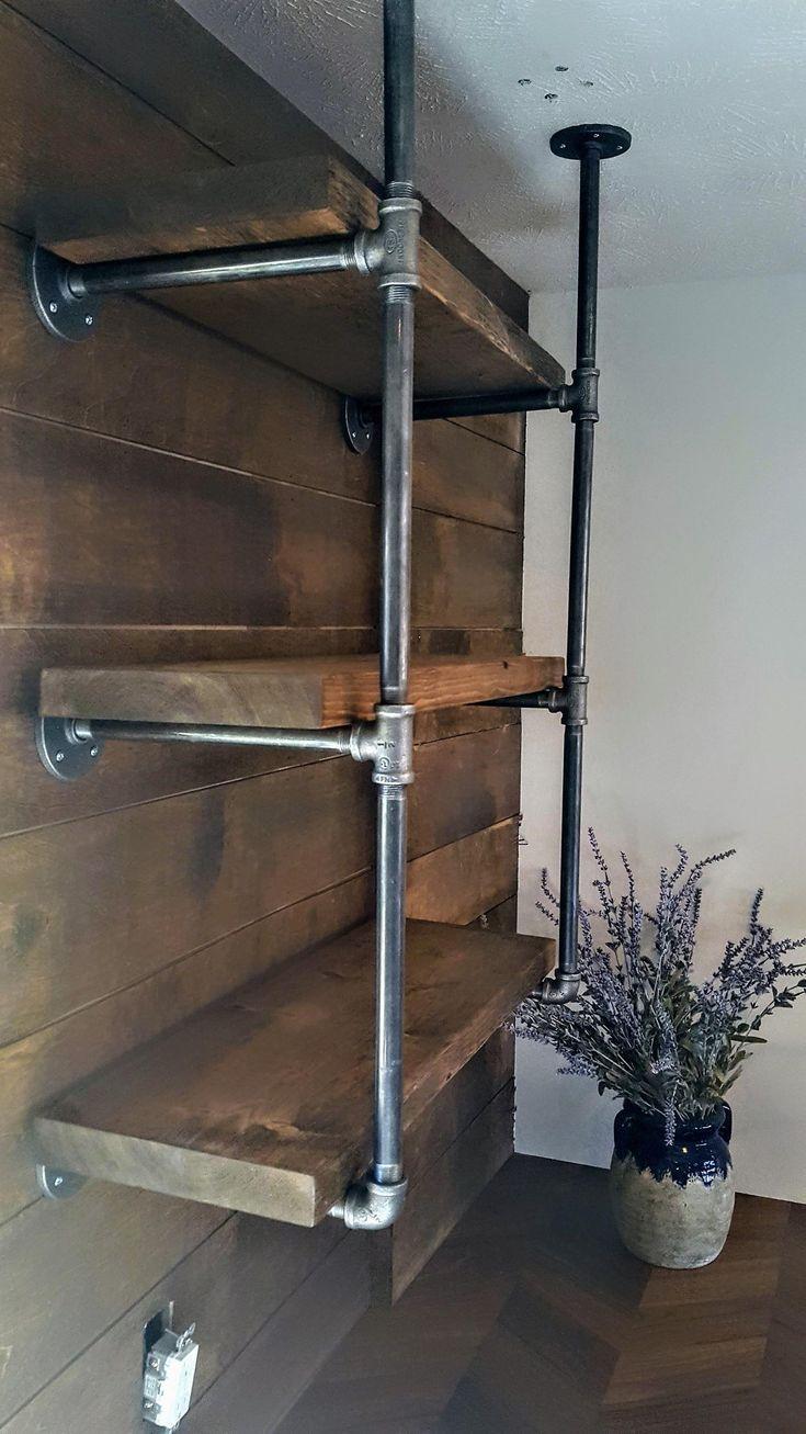 Open Kitchen Shelving Urban Industrial Floating Shelves