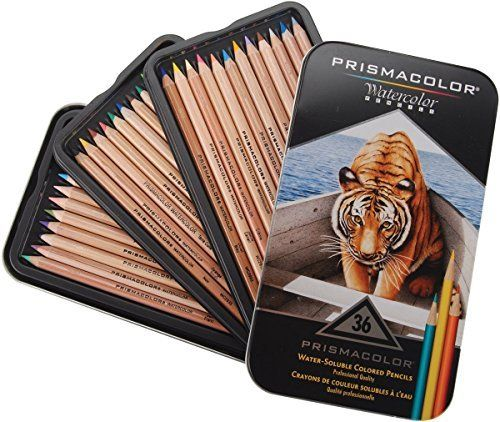 Prismacolor Water-Soluble Colored Pencils 36-Count (Pack of 2)