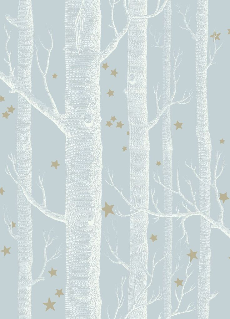 Woods and Stars Powder Blue wallpaper by Cole & Son