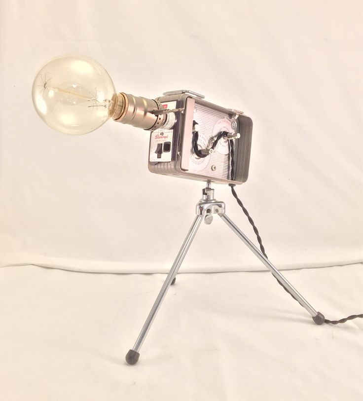 A personal favorite from my Etsy shop https://www.etsy.com/listing/548180411/vintage-kodak-brownie-8mm-camera-lamp