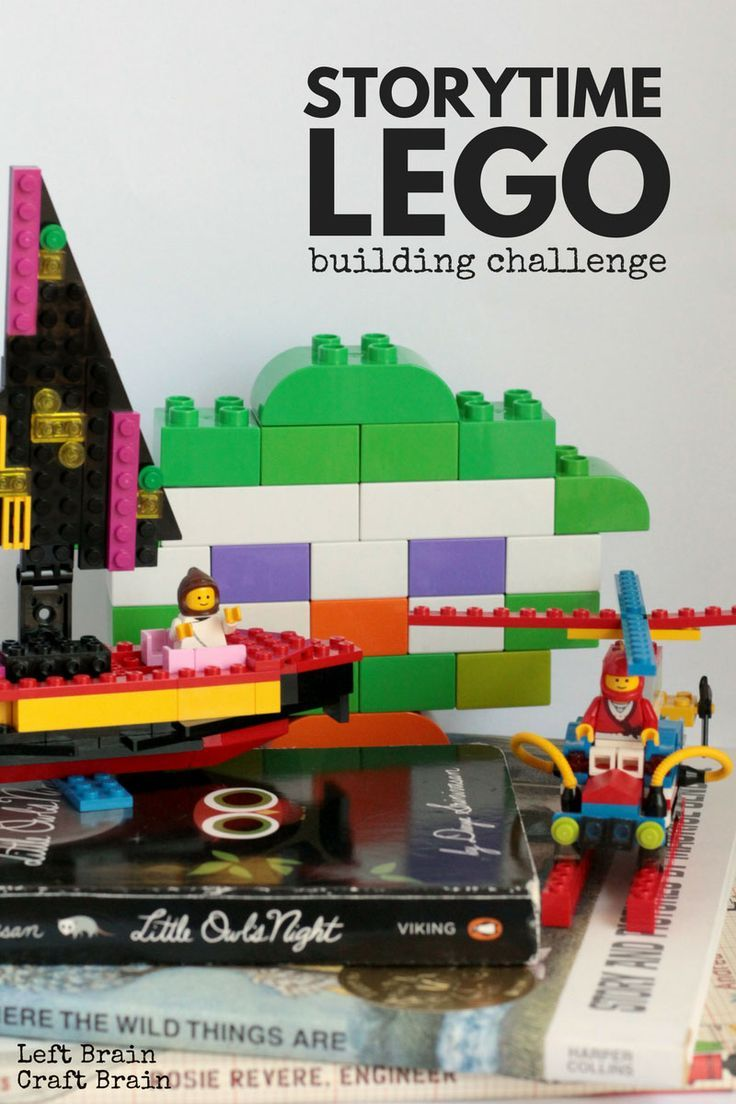 Books and the LEGO bricks you already have can be the inspiration for this fun Storytime LEGO Building Challenge.