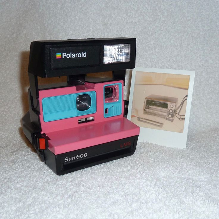 Upcycled Pink and Blue Polaroid Sun 600 - Cleaned and Tested by UpcycledClassics on Etsy https://www.etsy.com/listing/260537444/upcycled-pink-and-blue-polaroid-sun-600