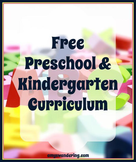 Free Preschool and Kindergarten Curriculum