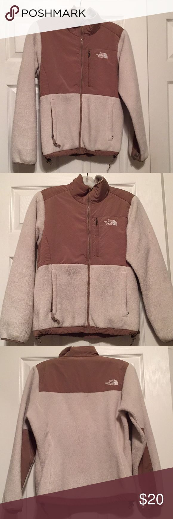 Ladies North Face Jacket Ladies North Face Jacket  Size small In great condition Ivory and brown  Full front zipper  Adjustable waist  Zipping pockets North Face Jackets & Coats