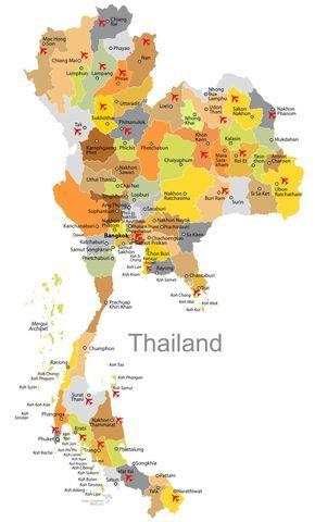 Karte Flughäfen für Urlaub und Touren Planung