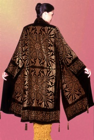 Fortuny coat gold papyrus.
