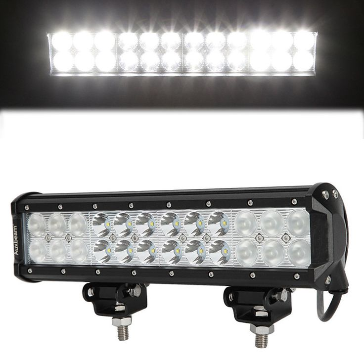 72W Led Work Light Bar 24 LED Headlights for Car Motorcycle Truck SUV ATV OffRoad 12 Inch s Spot Flood work light