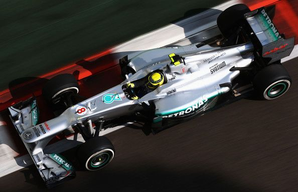 Nico Rosberg of Germany and Mercedes GP drives during the final practice session