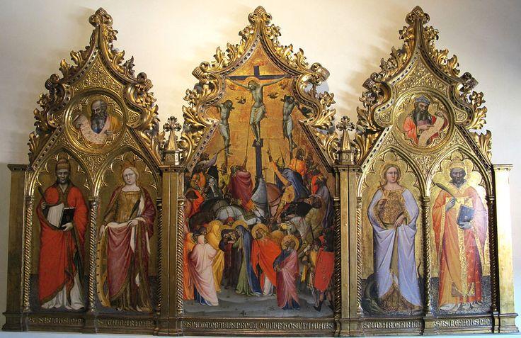 Spinello aretino, trittico della crocifissione, 1390-1410 ca.Museo nazionale di Villa Guinigi -