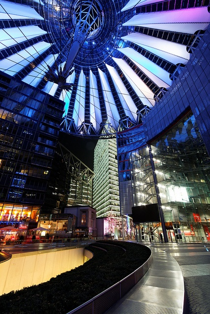 Sony Center - Potsdamer Platz, Berlin, Germany can't wait to one day go shopping there again:)