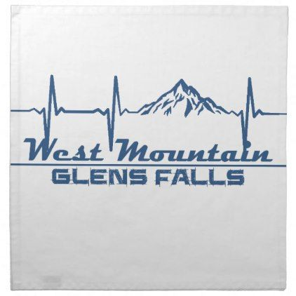West Mountain  -  Glens Falls - New York Napkin - fall decor diy customize special cyo