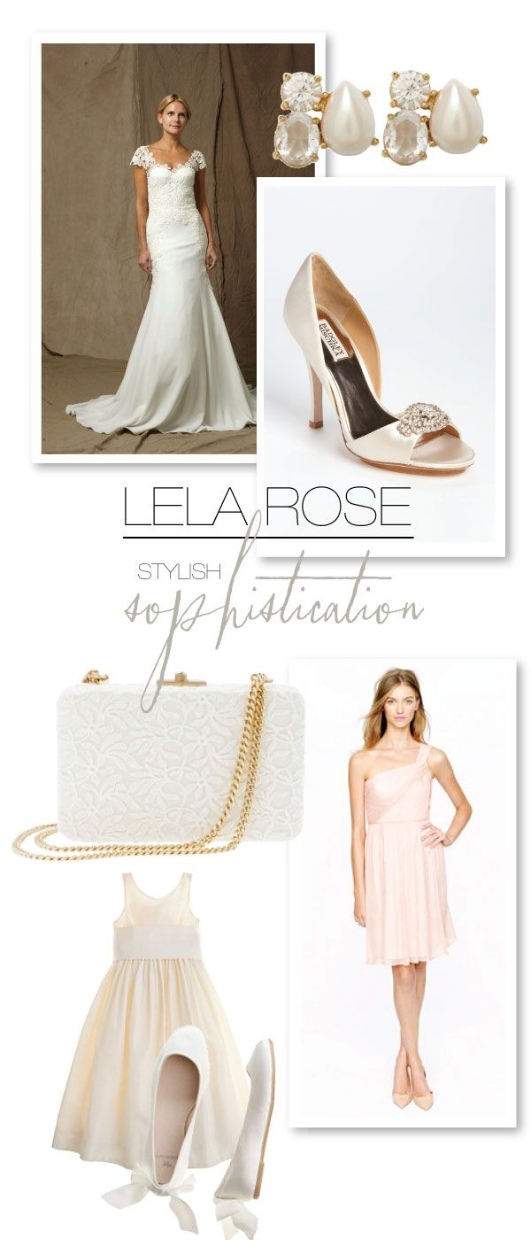 Lela Rose bridesmaids in blush http://www.stylemepretty.com/2012/11/02/lela-rose-spring-2013-bridal-collection/