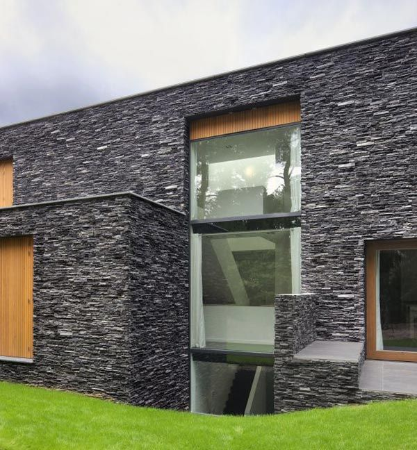 Nice Stone House Siding Blends Beautifully With Nature, In The Netherlands