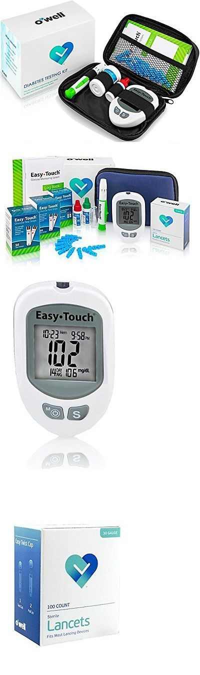 Monitoring Kits: Blood Glucose Diabetestesting Kit Meter Touch Strips 100 Lancets Lancing Device -> BUY IT NOW ONLY: $55.56 on eBay!