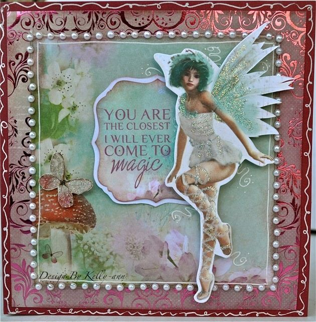 A Fairy card made using The Enchanted Garden collection from Kaisercraft. By Kelly-ann Oosterbeek.