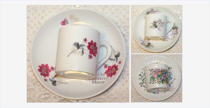 #Demitasse Tea Cup & Saucer by VA Vista Alegre #Portugal for #Mottahedeh #Vintage Mid Century 1960s #Portuguese #Designer Porcelain #Gift   ***   #MidCentury #TeaCup @DemitasseCup #VistaAlegre #VistaAlegrePortugal