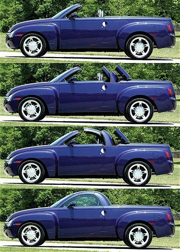 Chevrolet SSR perfect summer car because Kayaks dont fit in the convertible