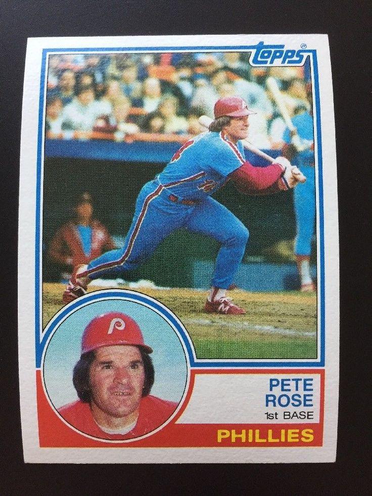 1983 topps pete rose 100 baseball card philadelphia