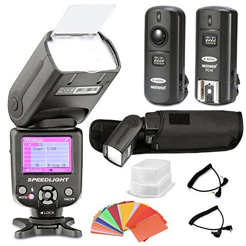 Neewer® *Ecran-coloré* E-TTL Camera Flash Kit pour Canon EOS
