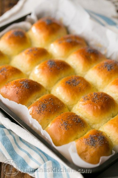 Sweet Poppy Seed Buns; super soft and my family approved @natashaskitchen