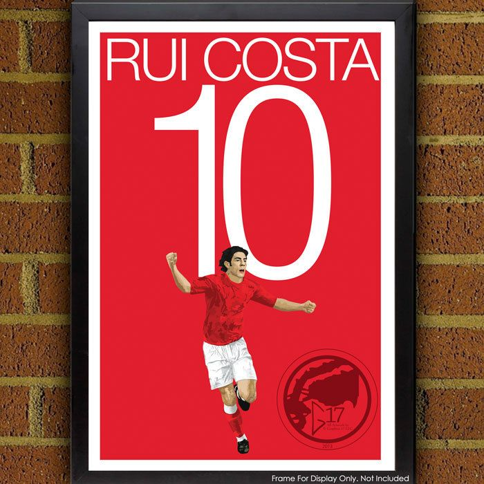 Rui Costa 10 Poster - SL Benfica - Portugal Soccer Poster- Primeira Liga poster, art, wall decor, home decor, Rui Costa art Work by Graphics17 on Etsy