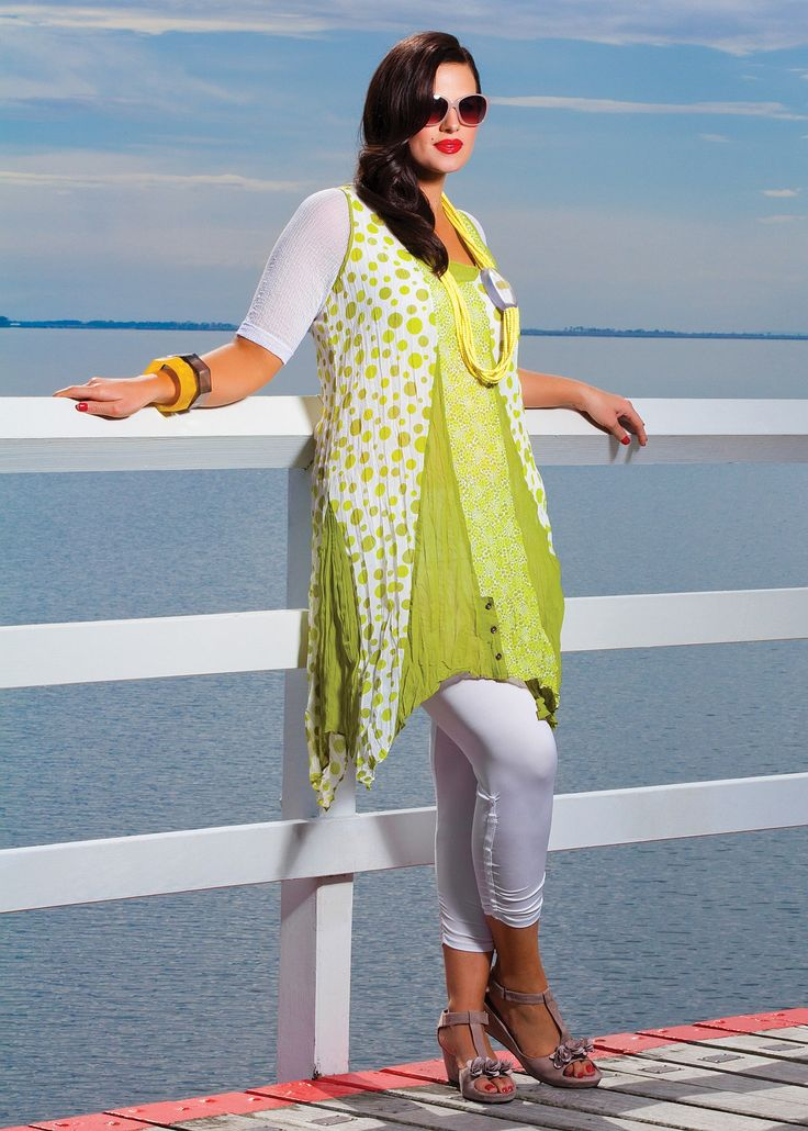 Big Sizes Womens Clothing | Clothes for Larger Size Women - SPOT ON CRUSHED TUNIC - TS14
