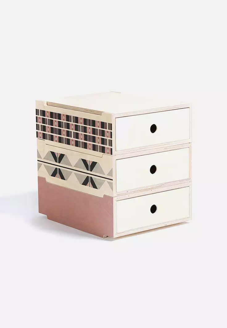 Set of 3 Candy Stackable Drawers