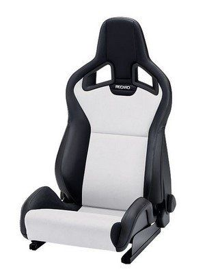 RECARO CROSS SPORTSTER CS HEATING ARTIFICIAL LEATHER BLACK DINAMICA GRAY SIDE RIGHT