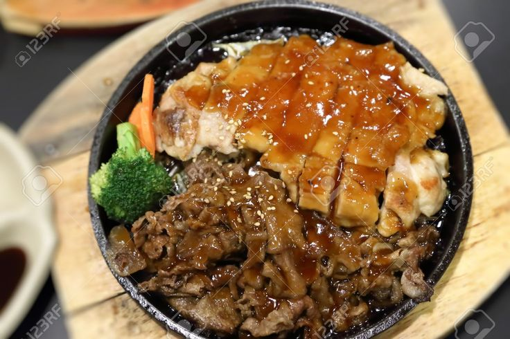 Image result for japanese chicken and beef  TERIYAKI