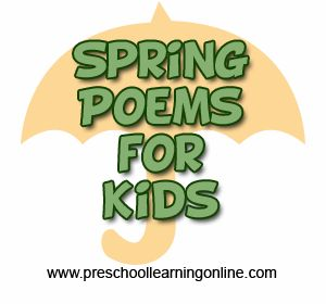 Spring Poems. Spring is coming. Here are some simple Spring Poems for kids. #springpoems #spring #preschoolpoems http://www.preschoollearningonline.com/poems-for-kids/spring-poems.html