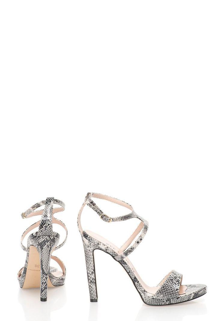 Sandale stiletto cu model sarpe - Zee Lane