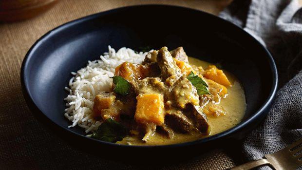 Kit Perera and his Sri Lankan lamb & pumpkin coconut curry.