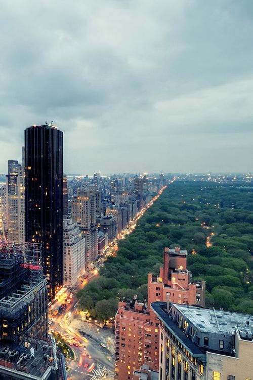 Central Park and the Upper West Side at Twilight, New York City (by andrew c mace)