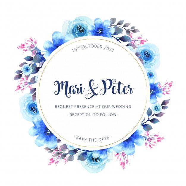 Watercolor Wedding Invitation Vector Free Download Wedding