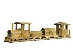 Wooden Playground Equipment - Train Set - 4 Piece