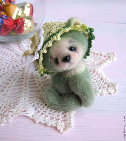R458 Мишки Тедди ручной работы. Ярмарка Мастеров - ручная работа. Купить Медвежонок Яблочный леденец. Handmade. Мишка, теддик