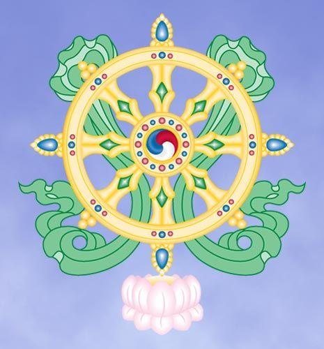 What Are the 8 Auspicious Symbols of Buddhism?: The Eight Auspicious Symbols: Dharma Wheel