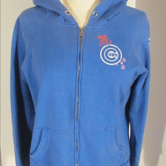 Victoria's Secret Chicago Cubs Hoodie Good condition PINK Victoria's Secret Tops Sweatshirts & Hoodies