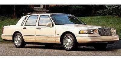 awesome 1997 Lincoln Town Car Cartier, 4-Door Sedan, Vibrant White (CC)