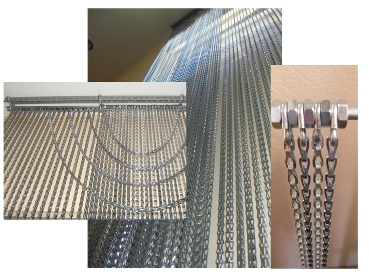 Chain Curtains From Ceiling To Floor   Made From Hardware Store Materials,  Chain, Steel
