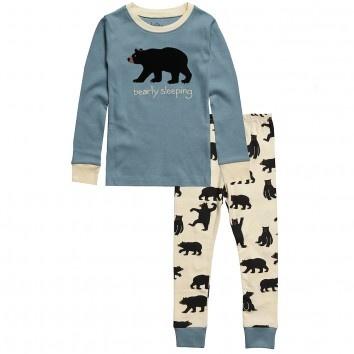 Hatley 'Bearly Sleeping' Blue Cotton Pyjamas at Childrensalon.com