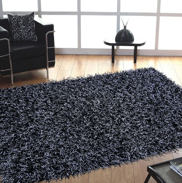 Dark Grey Shag Area Rug