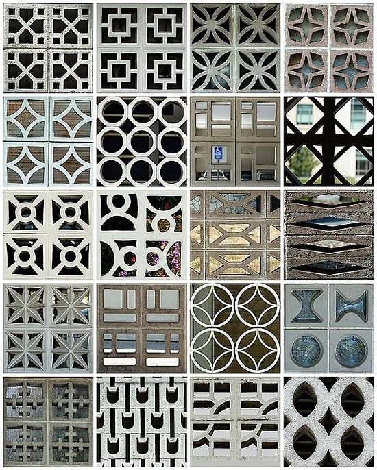The Perforated Screen Walls Pool.  For a plethora of patterned concrete this is a one stop shop.