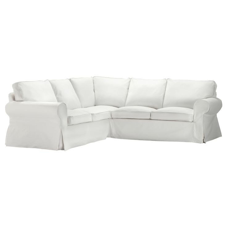 """EKTORP Corner sofa 2+2, Blekinge white $799.00 (This is the sectional that is SO popular with all the """"mommy bloggers"""" for its durability and how easy it is to clean!)"""
