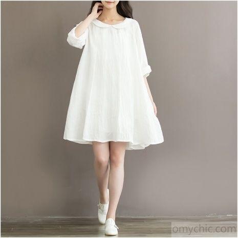 White Linen Summer Dresses