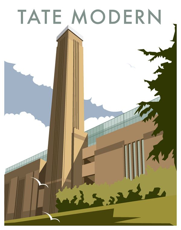 Poster series featuring the most iconic buildings and scenes across London