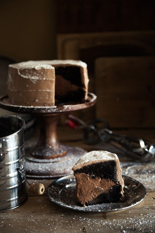 Chocolate Brownie Mousse Cake at Chasing Delicious
