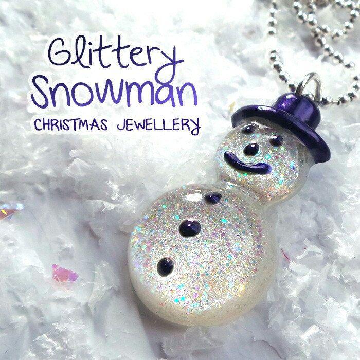 New sparkly snowmen necklaces ☃