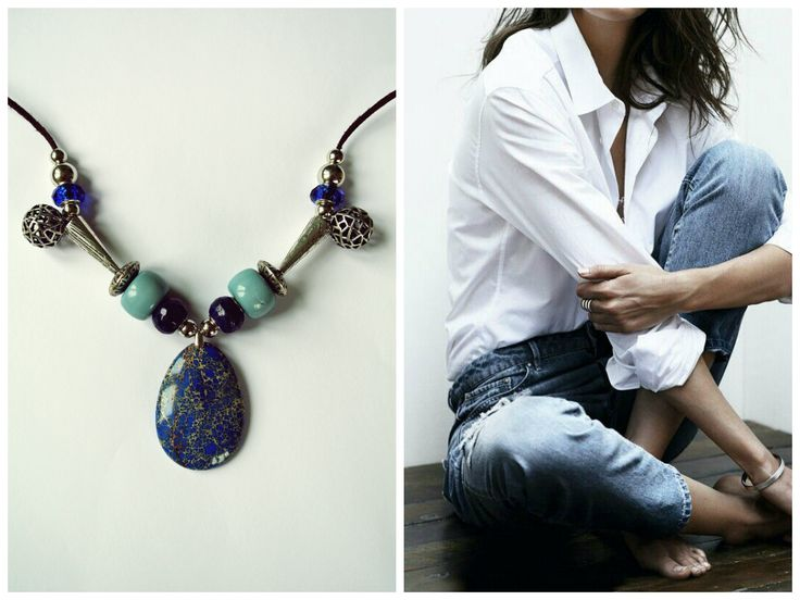 HAVA Collection. Blue Necklace.